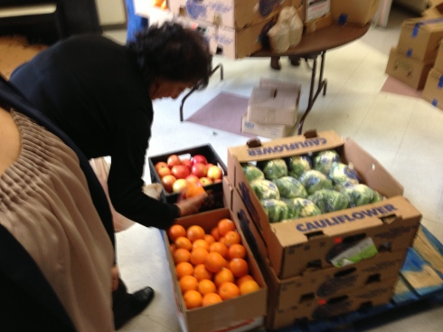 Fresh produce for the brown bag program