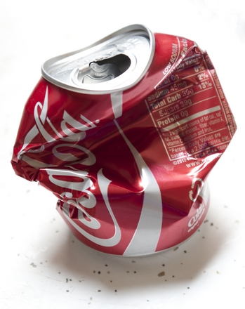 Crushed from inside...but don't drink the soda